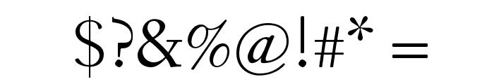 Fanwood TT Regular Font OTHER CHARS