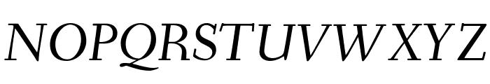 Fanwood Text TT Italic Font UPPERCASE