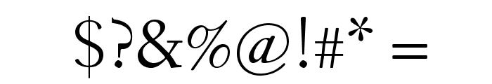Fanwood Font OTHER CHARS