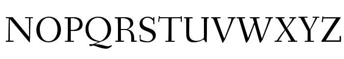 Fanwood Font UPPERCASE
