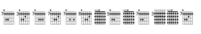 FarHat Chords 1 Regular Font UPPERCASE