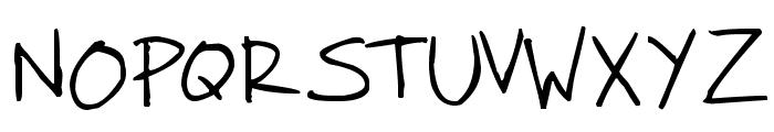 Faraco Hand Font UPPERCASE