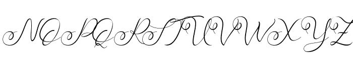 Faradilla Font UPPERCASE