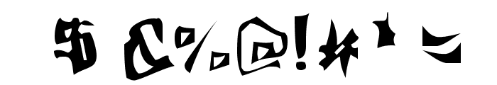 Fargas Font OTHER CHARS