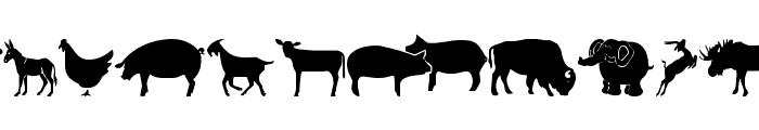 Farm & Wild Animals Font LOWERCASE