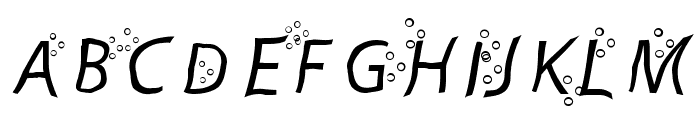 Fart Bubble Font LOWERCASE