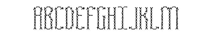 Fascii Cross BRK Font UPPERCASE