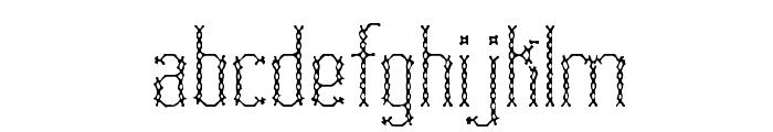 Fascii Cross BRK Font LOWERCASE