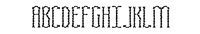 Fascii Scraggly BRK Font UPPERCASE