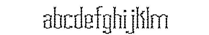 Fascii Scraggly BRK Font LOWERCASE