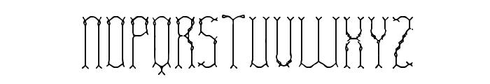 Fascii Twigs BRK Font UPPERCASE