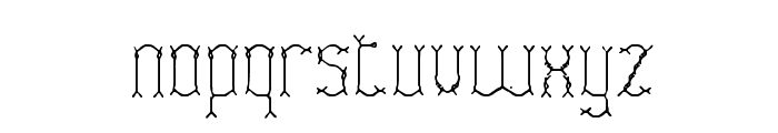 Fascii Twigs BRK Font LOWERCASE