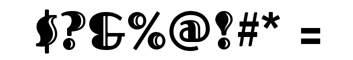 Fascinate Inline Font OTHER CHARS