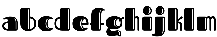 FascinateInline-Regular Font LOWERCASE