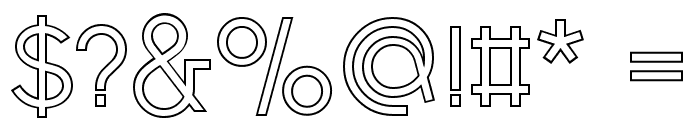 Fashion Fetish Outline Font OTHER CHARS