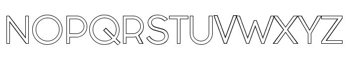Fashion Fetish Outline Font UPPERCASE