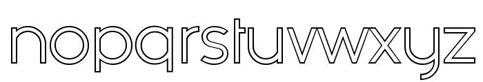 Fashion Fetish Outline Font LOWERCASE