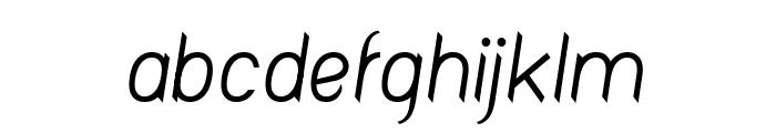 Fashionism Italic Font LOWERCASE