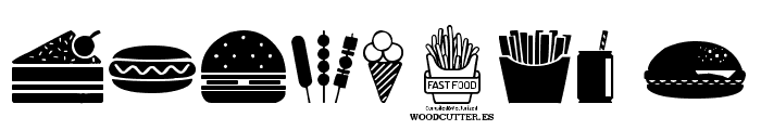 Fast Food Icons Font OTHER CHARS