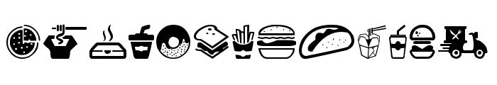 Fast Food Icons Font UPPERCASE
