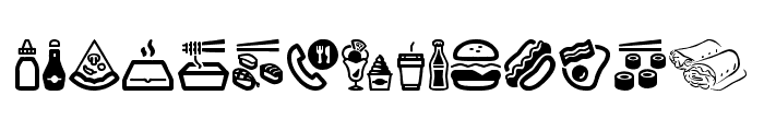 Fast Food Icons Font LOWERCASE