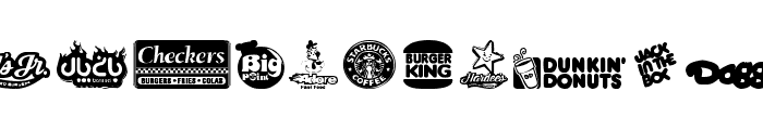 Fast Food logos Font UPPERCASE