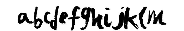 FastBrush Font LOWERCASE