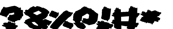 Fat Brush Font OTHER CHARS