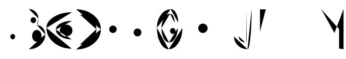 Fat Cyan Font UPPERCASE