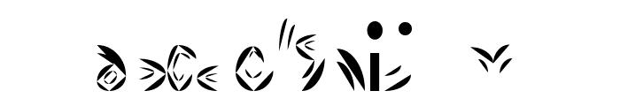 Fat Cyan Font LOWERCASE