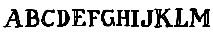 Fat Finger Font UPPERCASE