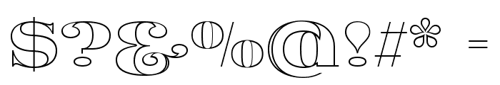 Fat Flamingo5 Outline Font OTHER CHARS