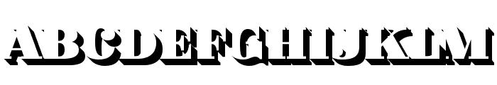 Fat Flamingo5 Shadow Font UPPERCASE
