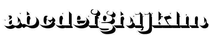 Fat Flamingo5 Shadow Font LOWERCASE
