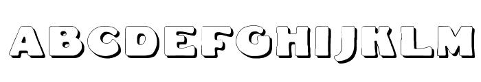 Fat Freddie Shadow Font LOWERCASE