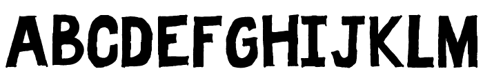 Fat Free Solid Font UPPERCASE