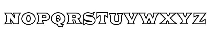 Fat Legs Outline Font UPPERCASE