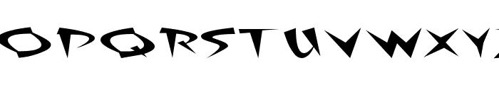 Fat Plain Font UPPERCASE