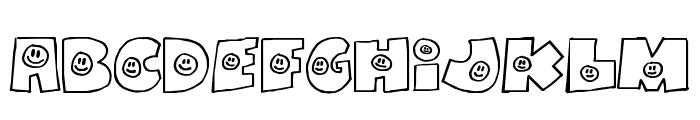FatBoySmiles Font UPPERCASE