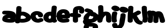 Fat Font LOWERCASE