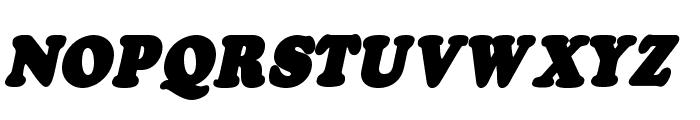 Fatso Italic CS Font UPPERCASE