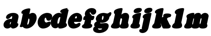 Fatso Italic CS Font LOWERCASE