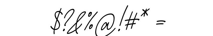 Fattana Italic Font OTHER CHARS