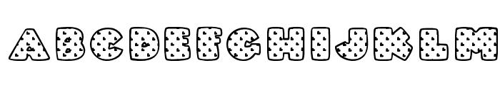 Fatty Heart Filled Font UPPERCASE