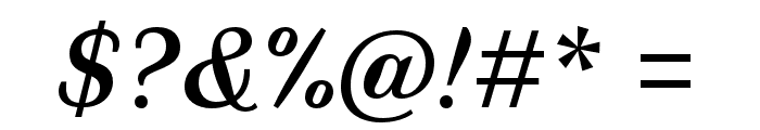 Faune Text Italic Font OTHER CHARS