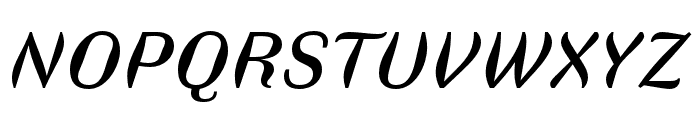 Faune Text Italic Font UPPERCASE
