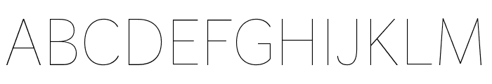 Faune Thin Font UPPERCASE