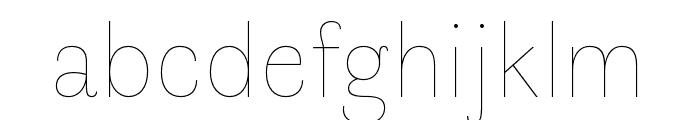 Faune Thin Font LOWERCASE