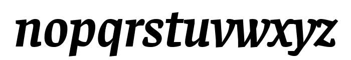Faustina Bold Italic Font LOWERCASE