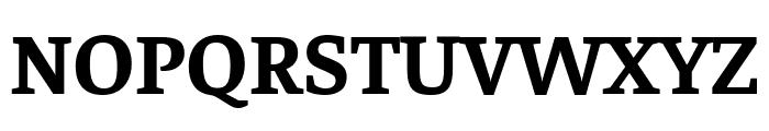 Faustina Bold Font UPPERCASE
